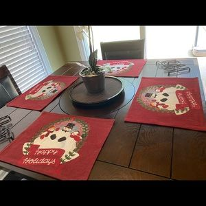 Set of 4 Christmas Placemats